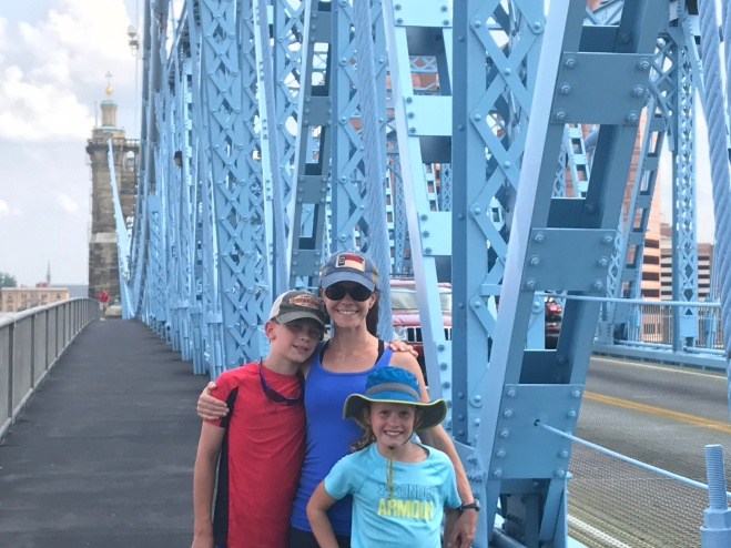 Walking Across the Roebling Bridge from Ohio to Kentucky